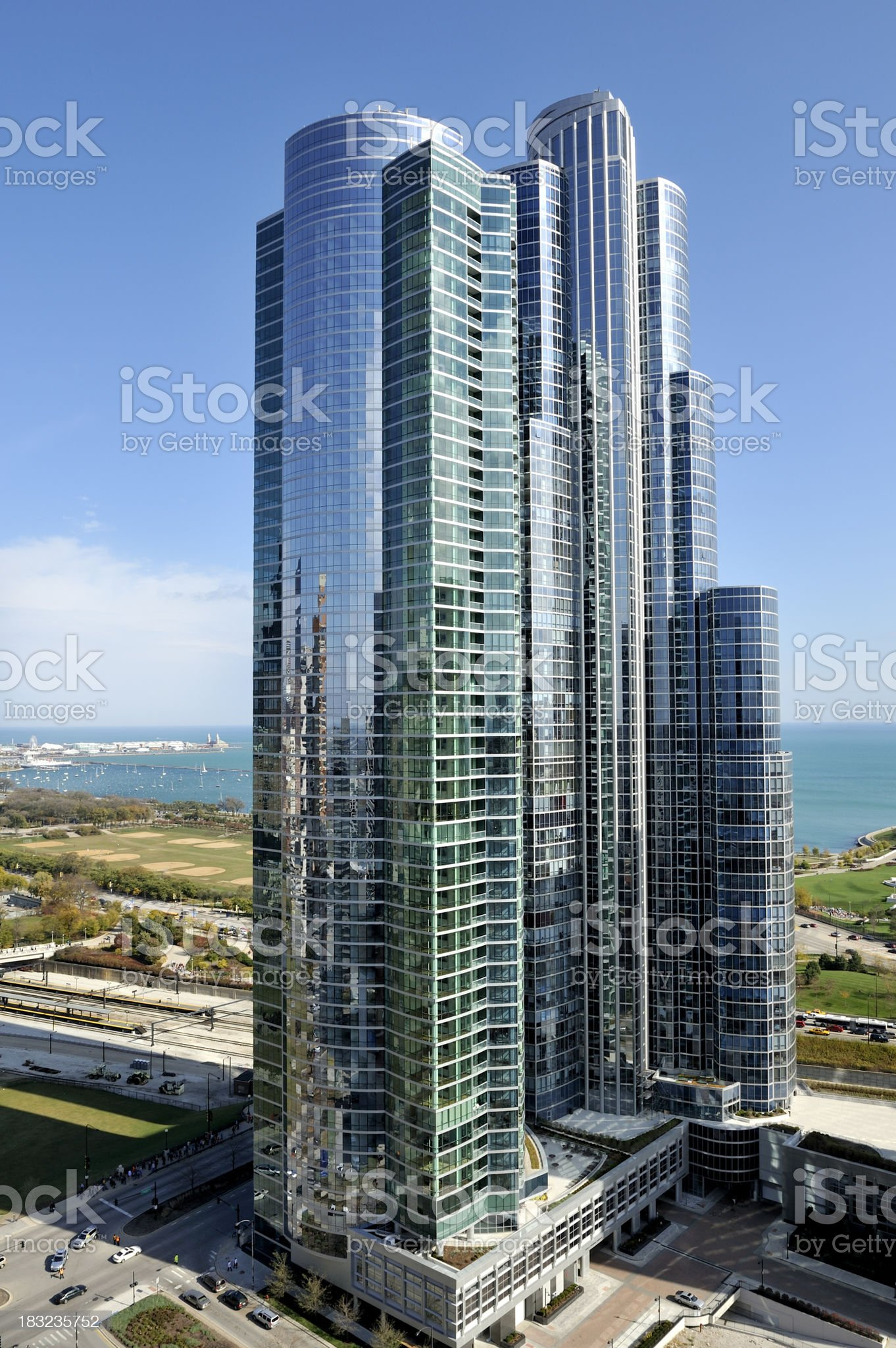 Aerial View of New Skyscraper royalty-free stock photo