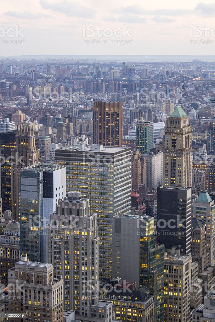 Aerial view of New York City Skyline royalty-free stock photo