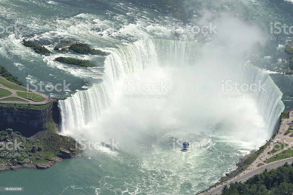 Aerial View of Niagra Falls, Ontario, Canada stock photo