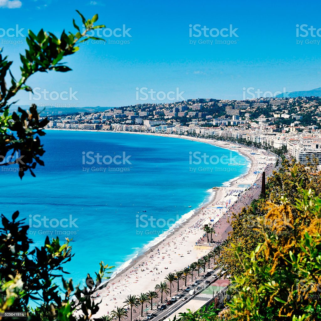 aerial view of Nice, France stock photo