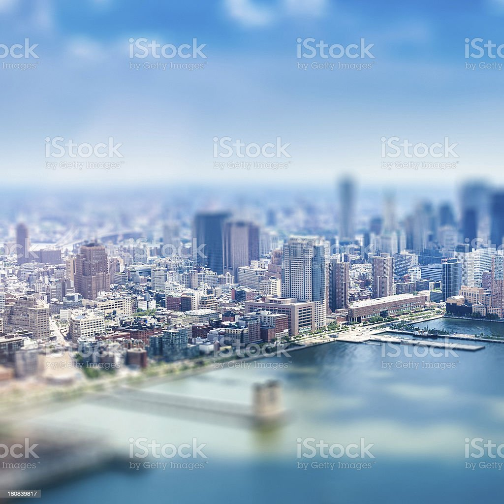 Aerial view of NYC royalty-free stock photo