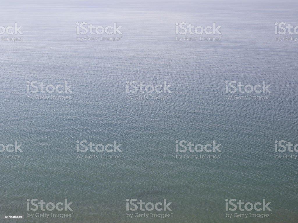Aerial view of ocean stock photo