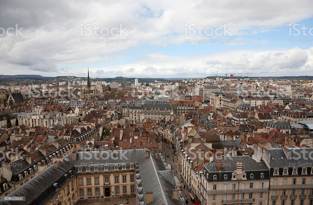 Aerial view of of Dijon, France stock photo