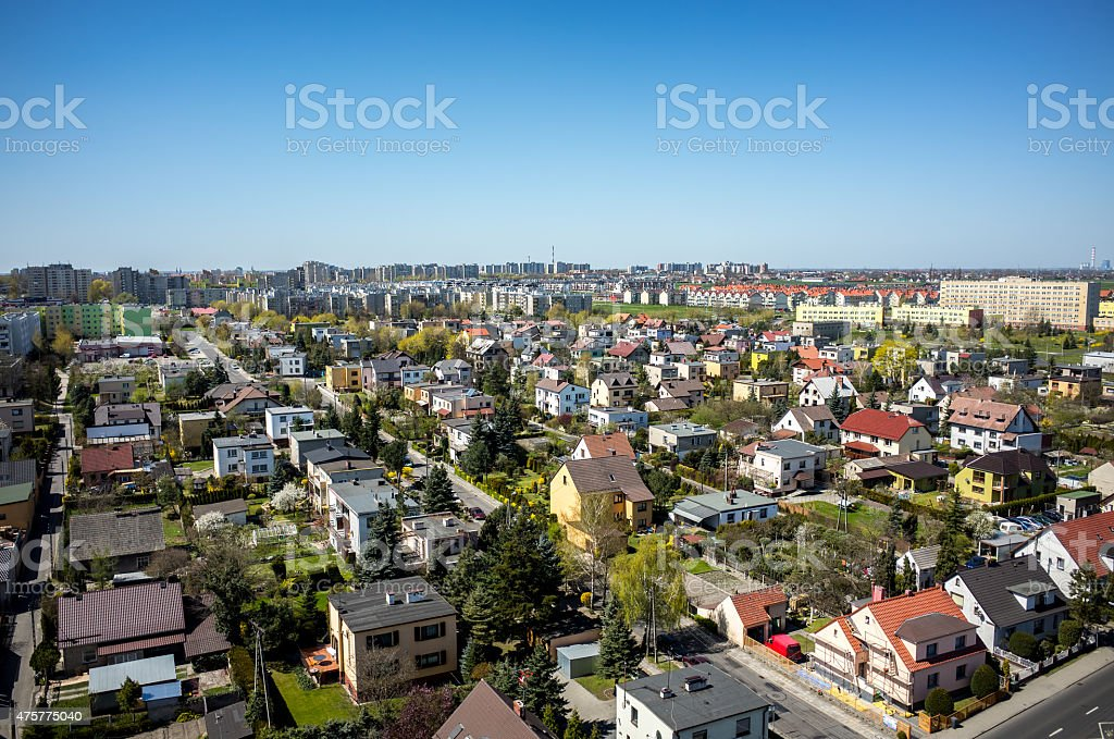 Aerial view of Opole stock photo