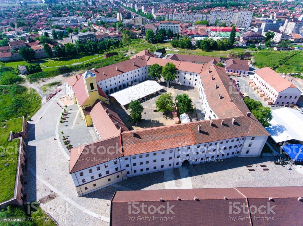Aerial view of Oradea Fortress (Nagyvarad) stock photo