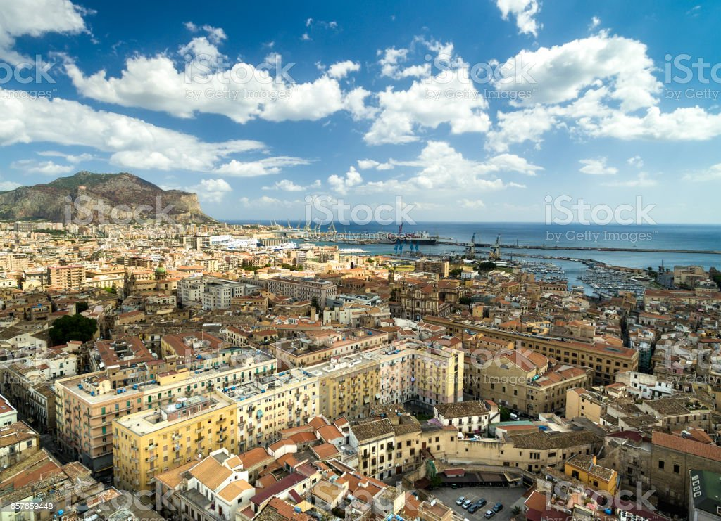 Aerial View of Palermo, Italy stock photo