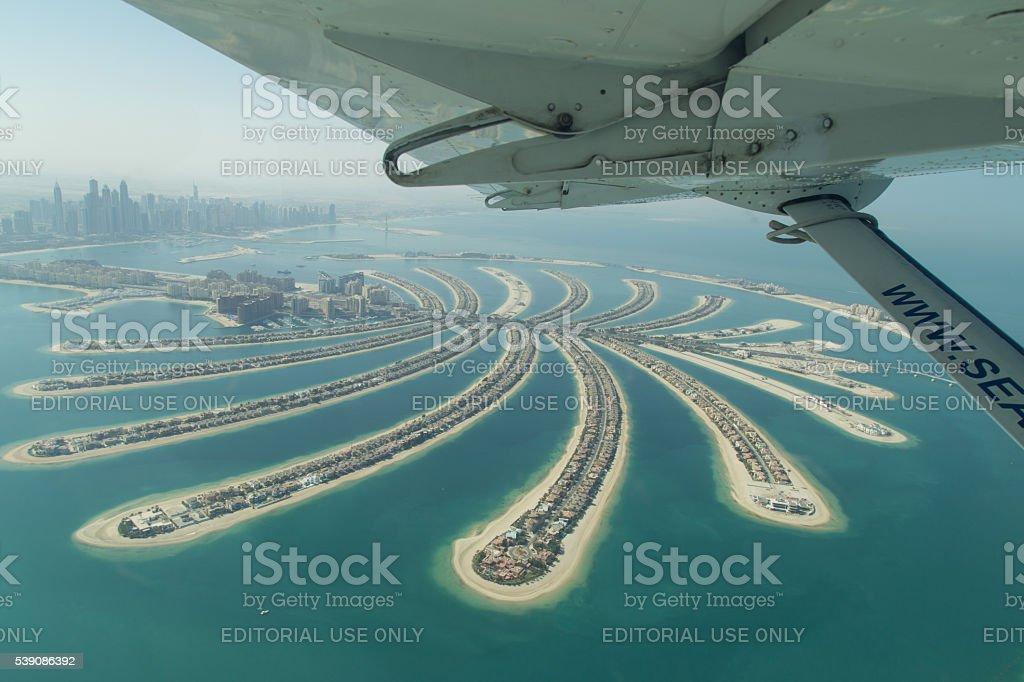 Aerial View of Palm Jumeirah, Dubai stock photo