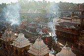 Aerial view of Pashupatinath Temple in Kathmandu