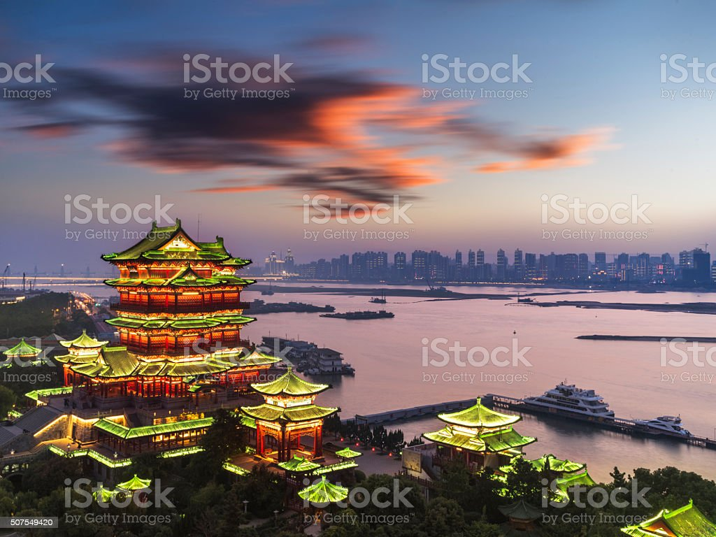Aerial view of Pavilion of Prince Teng stock photo