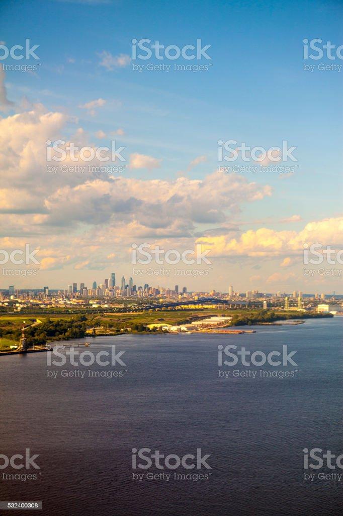 Aerial view of Philadelphia stock photo