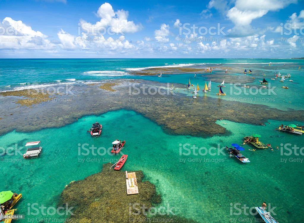 Aerial View of Porto de Galinhas, Pernambuco, Brazil stock photo