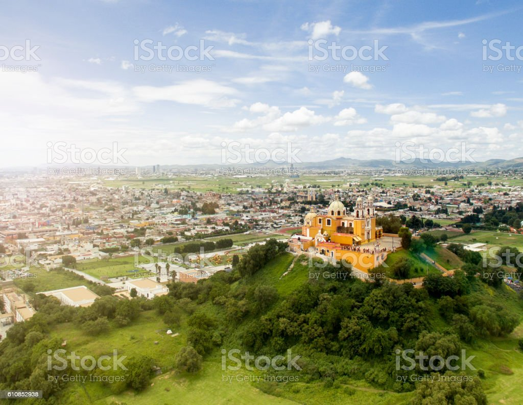 Aerial view of Puebla stock photo