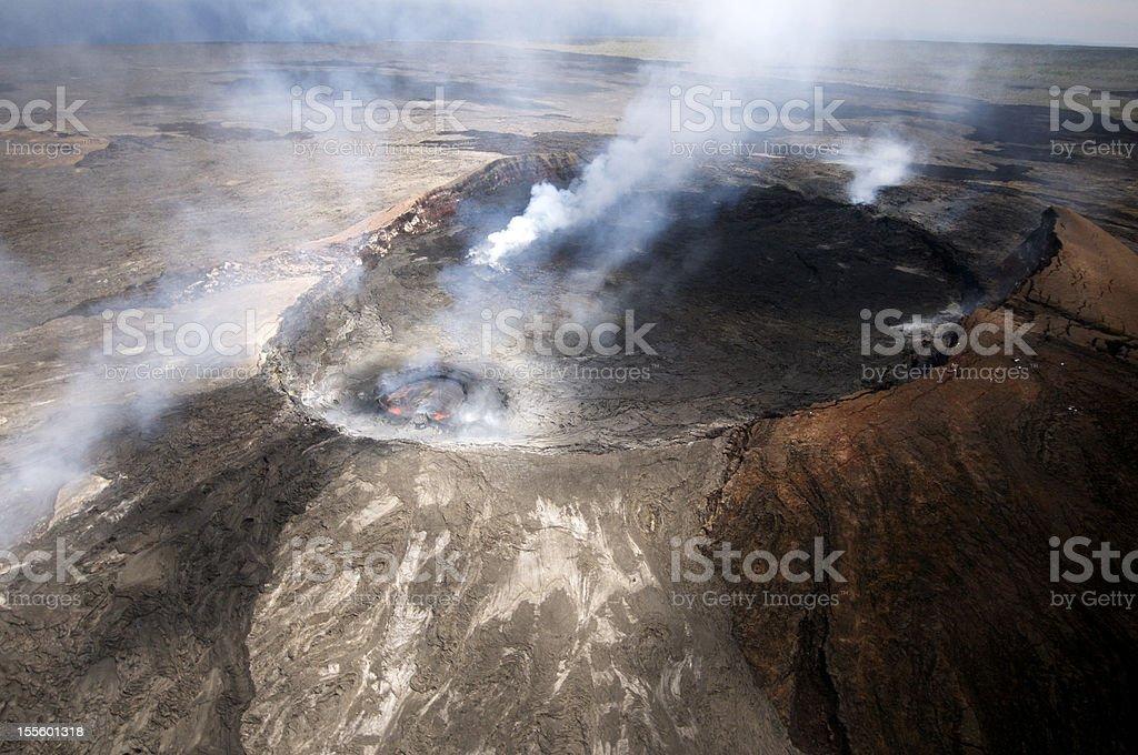 Aerial View of Pu'u O'o Crater, June 2012 stock photo