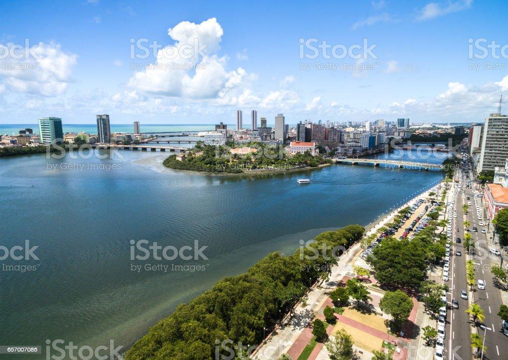 Aerial View of Recife, Pernambuco, Brazil stock photo