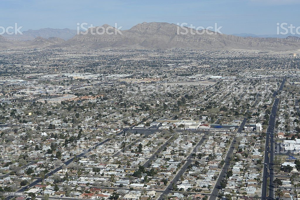 Aerial view of residential Las Vegas, Nevada (USA) stock photo