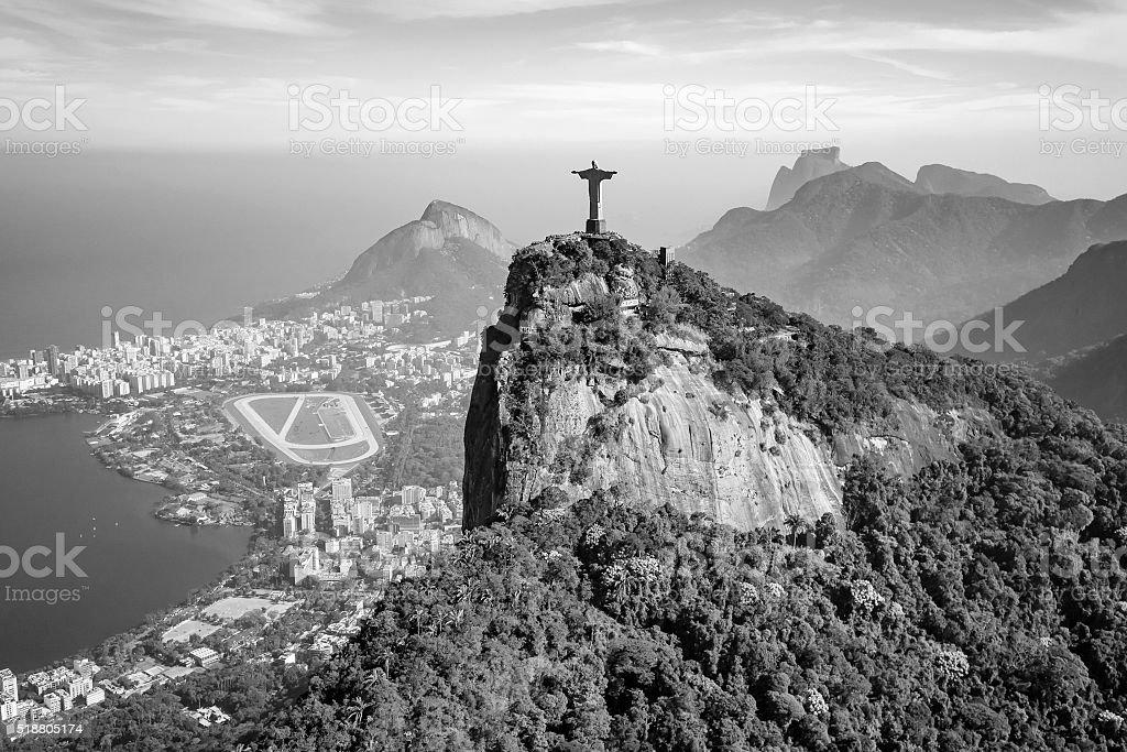 Aerial view of  Rio de Janeiro city stock photo