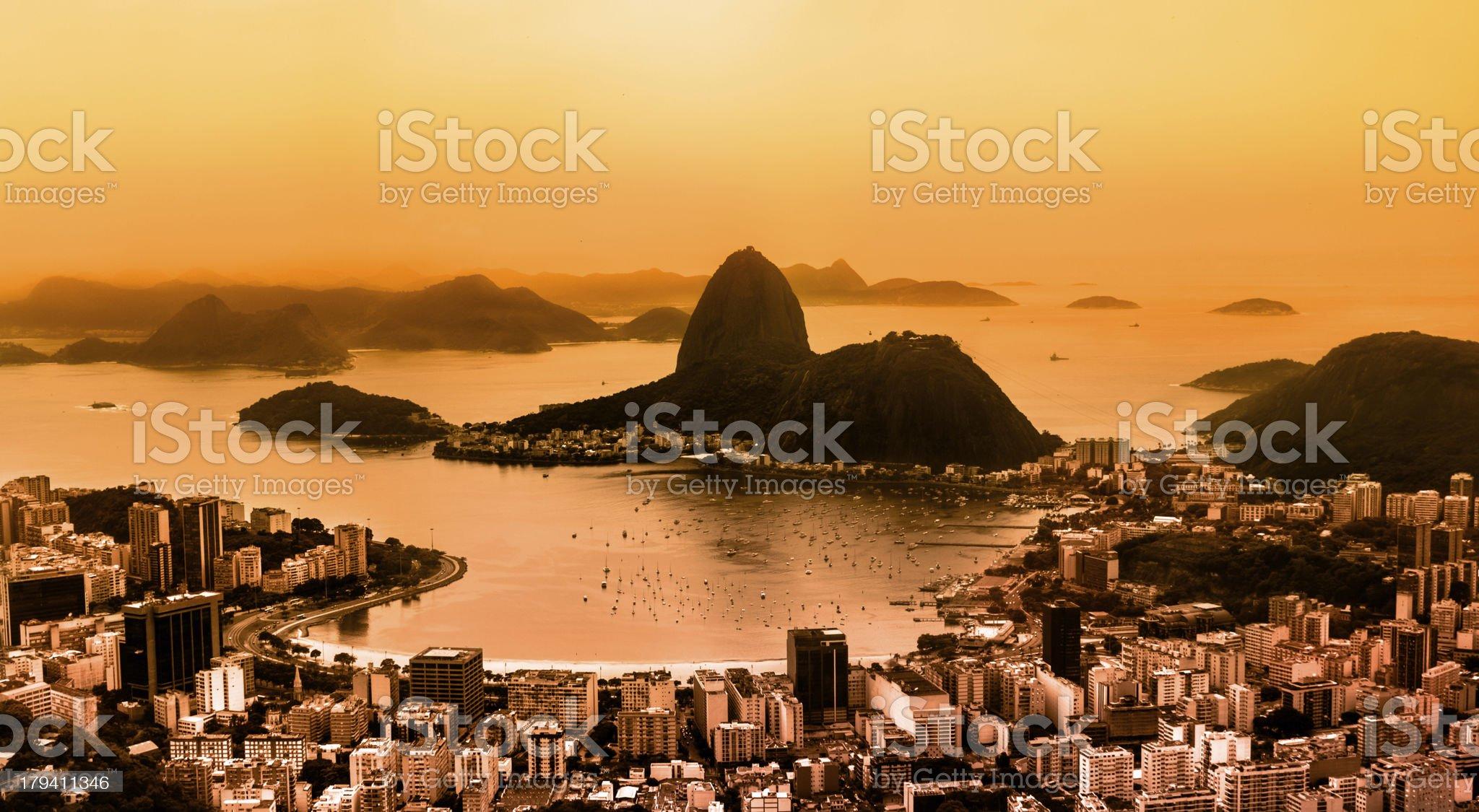 Aerial view of Rio de Janeiro in Brazil royalty-free stock photo
