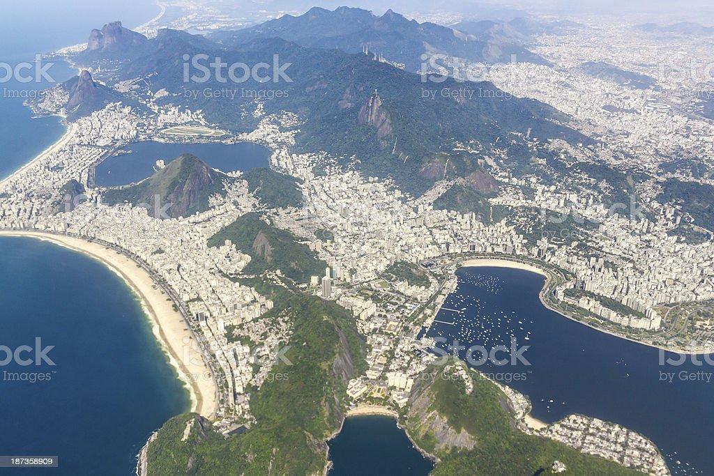 Aerial view of Rio de Janeiro royalty-free stock photo