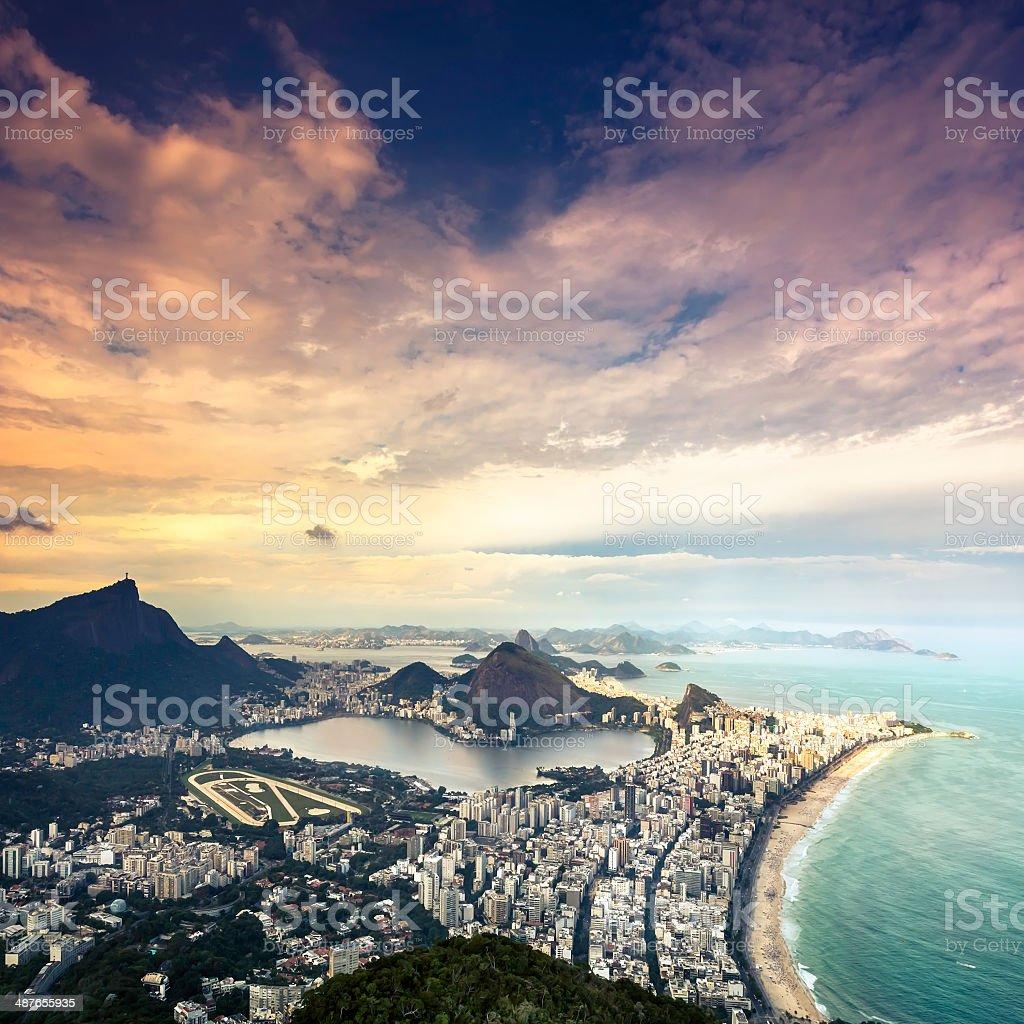 Aerial view of Rio de Janeiro,Brazil stock photo