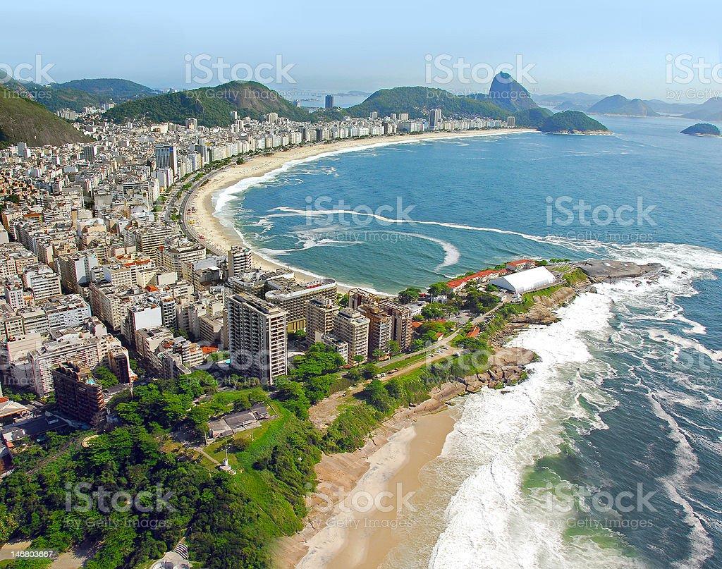 Aerial View of Rio De Janeiro's Beaches royalty-free stock photo