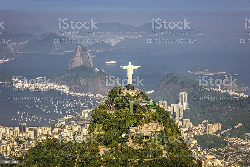 aerial view of rio de janerio from helicopter royalty-free stock photo