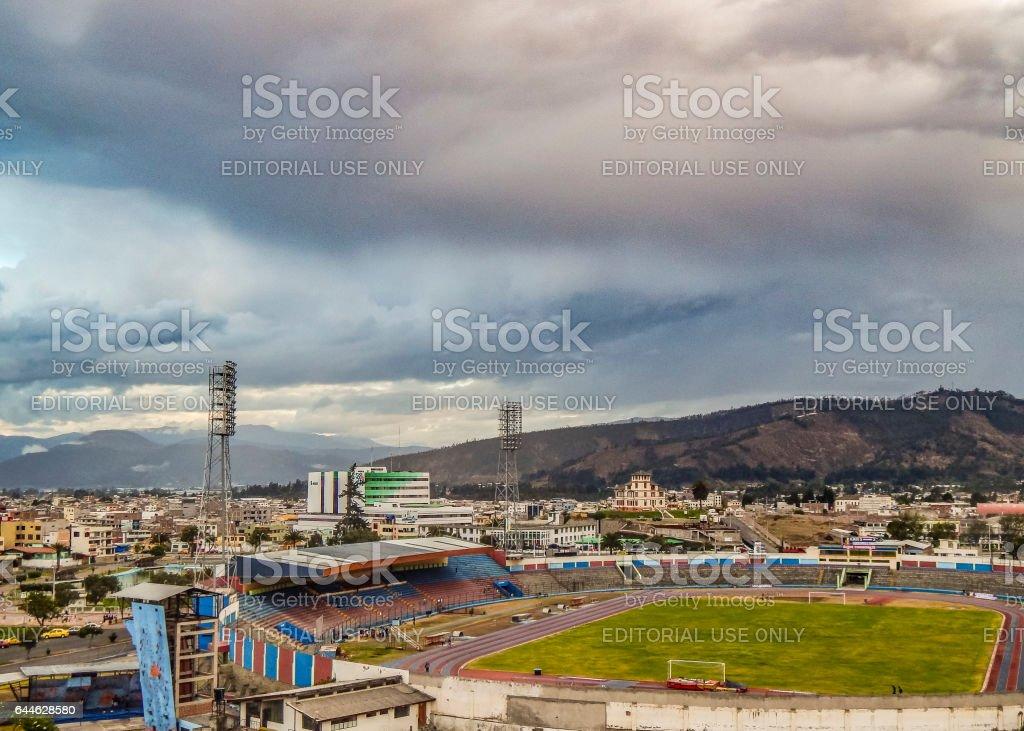 Aerial View of Riobamba City in Ecuador stock photo