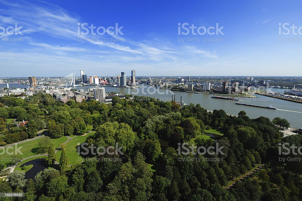 aerial view of  Rotterdam royalty-free stock photo