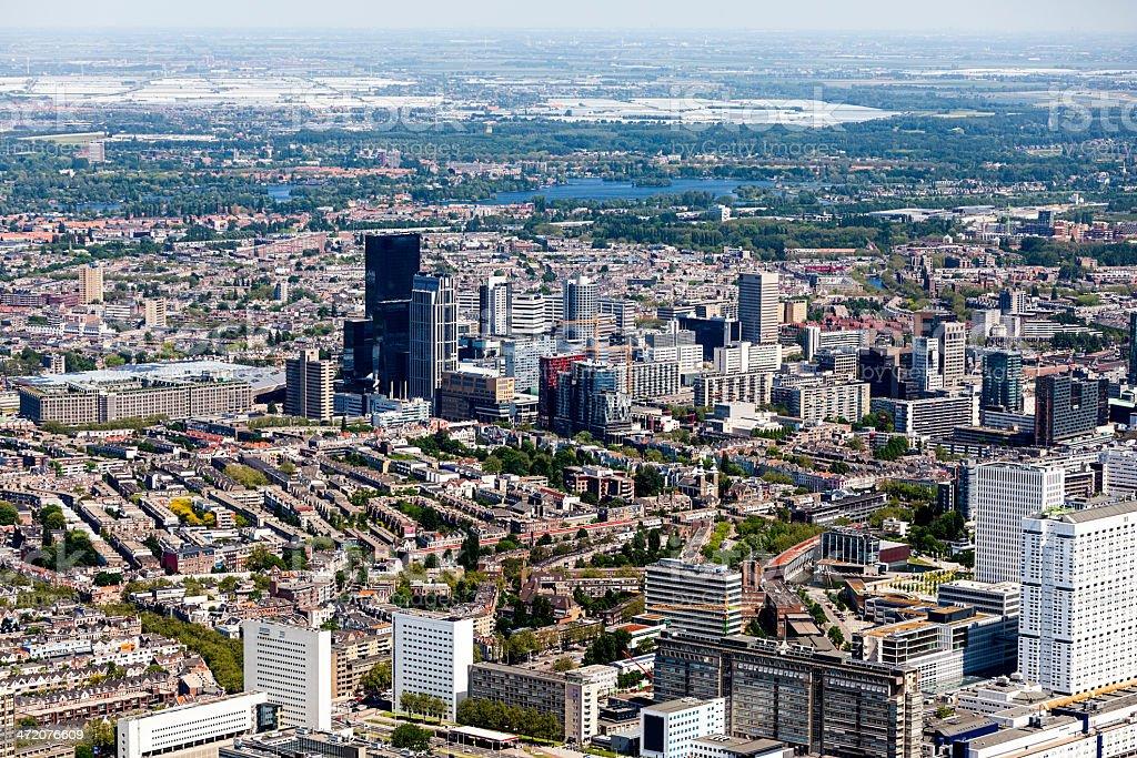 Aerial view of Rotterdam stock photo
