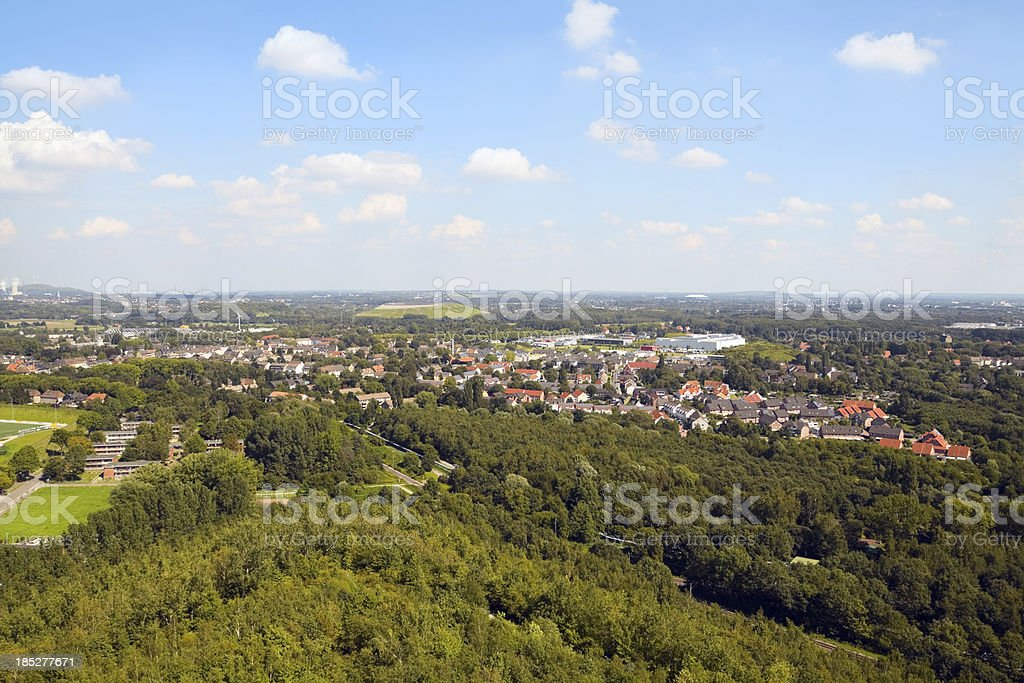Aerial view of Ruhrgebiet stock photo