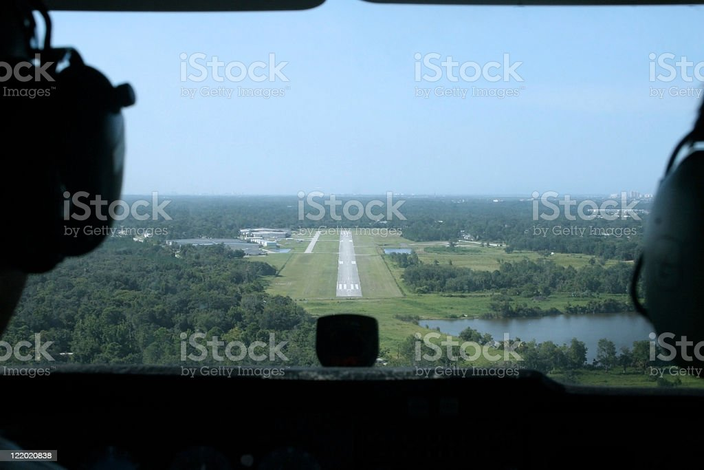 Aerial view of runway royalty-free stock photo