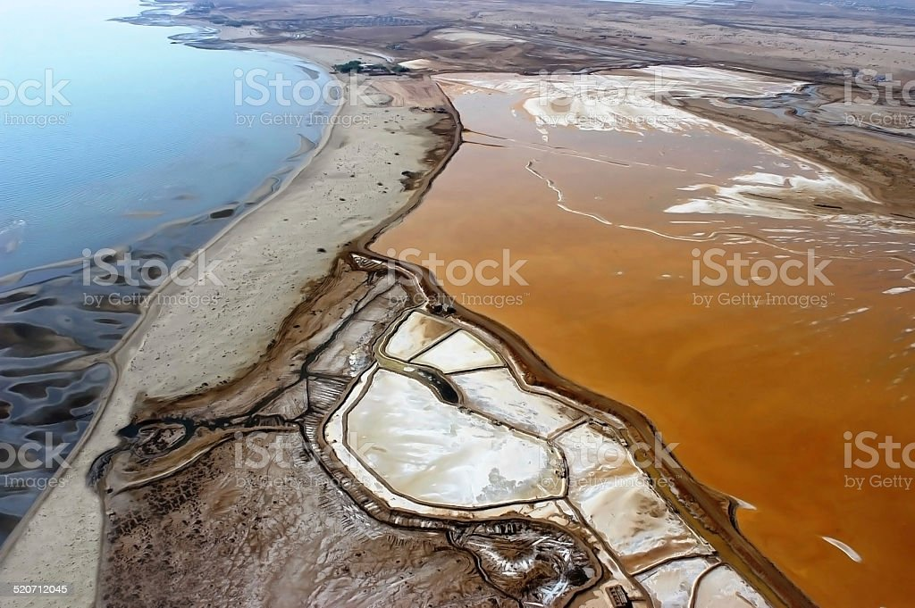 Aerial view of Salina to Eritrea stock photo