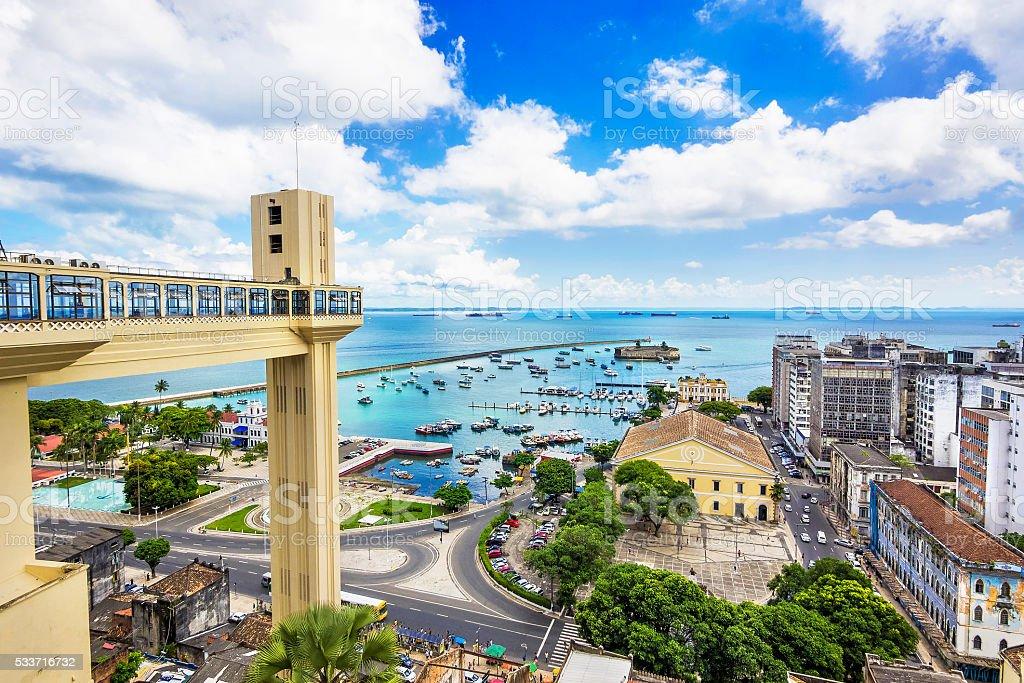 Aerial View of Salvador da Bahia, Brazil stock photo