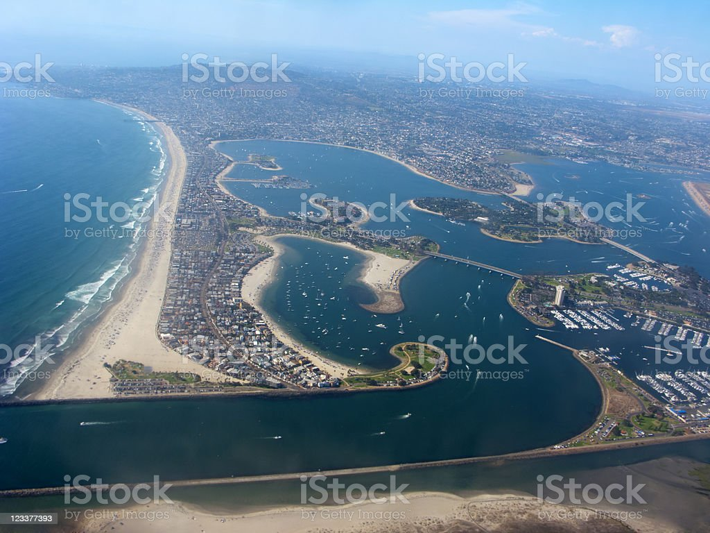 Aerial View of San Diego, CA stock photo