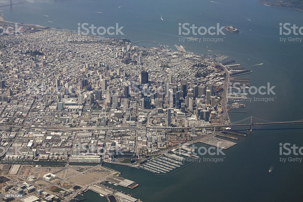 Aerial View of San Francisco, California stock photo