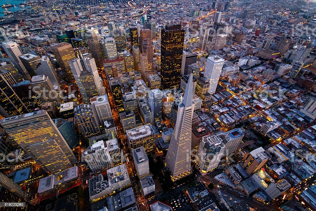 Aerial view of San Francisco stock photo
