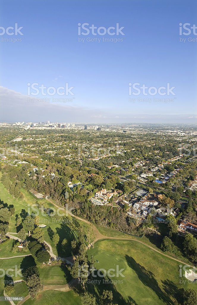 Aerial View of Santa Monica, California royalty-free stock photo