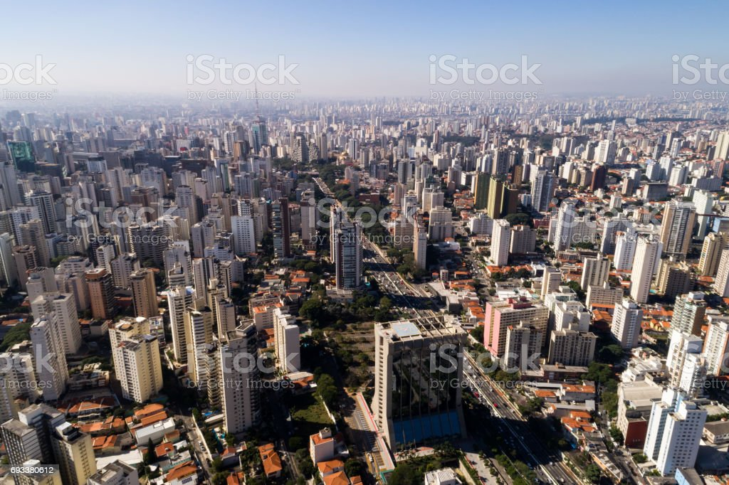 Aerial View of Sao Paulo, Brazil stock photo