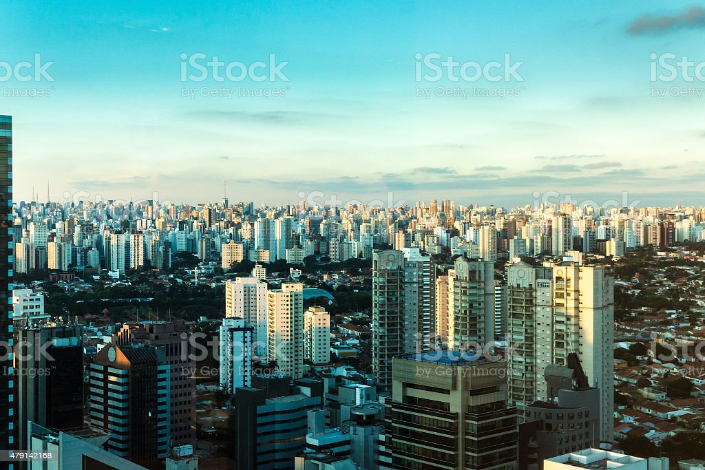 Aerial view of Sao Paulo in Brazil, South America stock photo