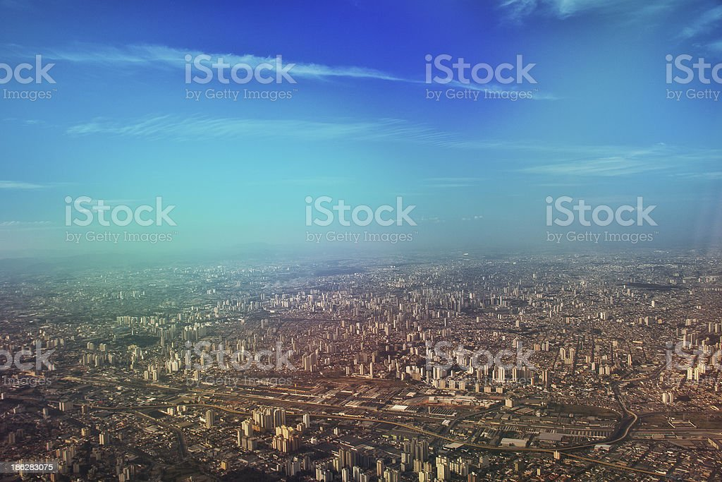 Aerial view of Sao Paulo stock photo