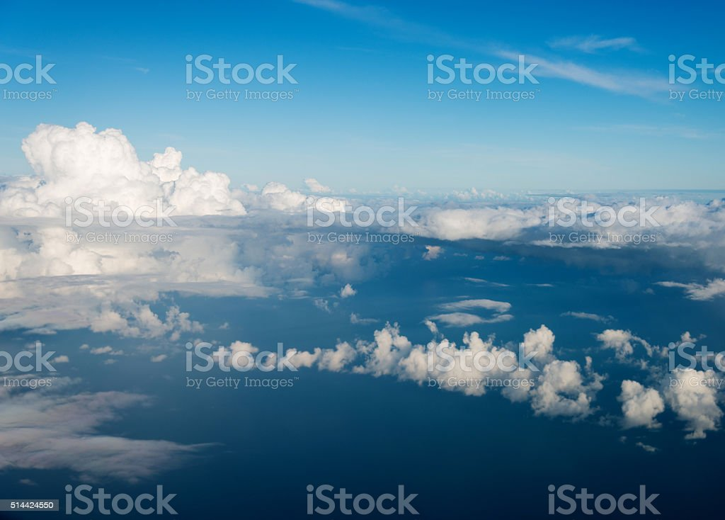 Aerial view of seascape stock photo