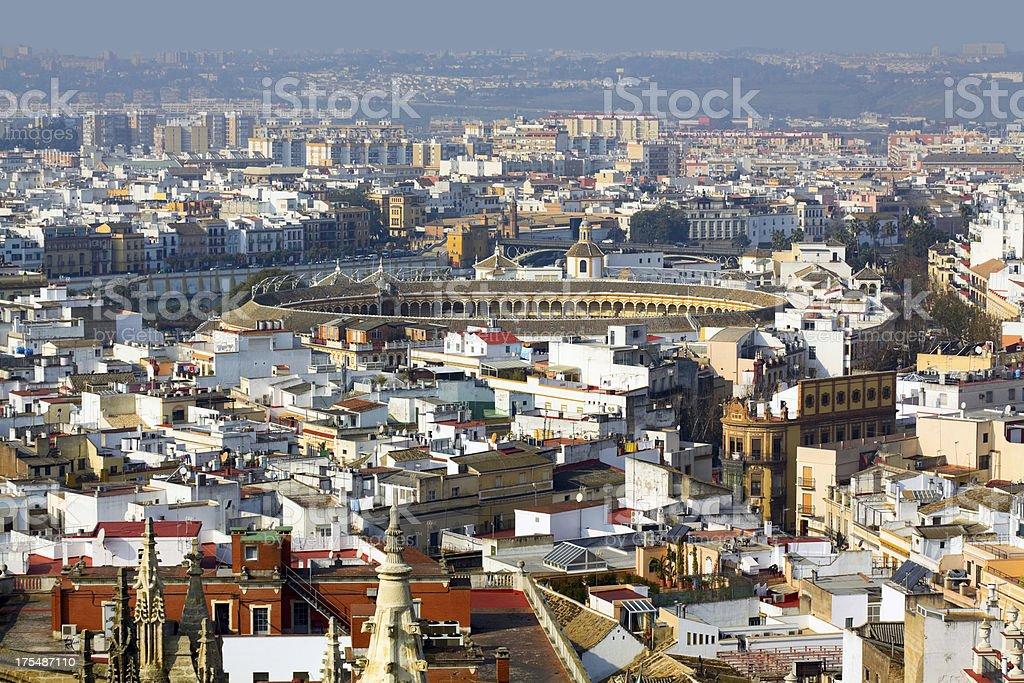 Aerial view of Sevilla royalty-free stock photo