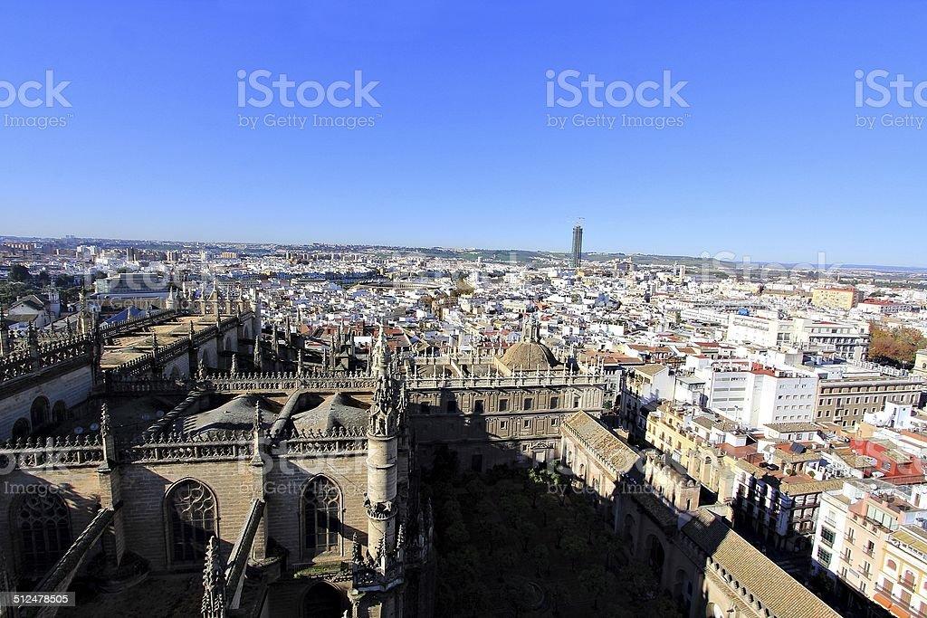 aerial view of Sevilla, Seville, Spain stock photo