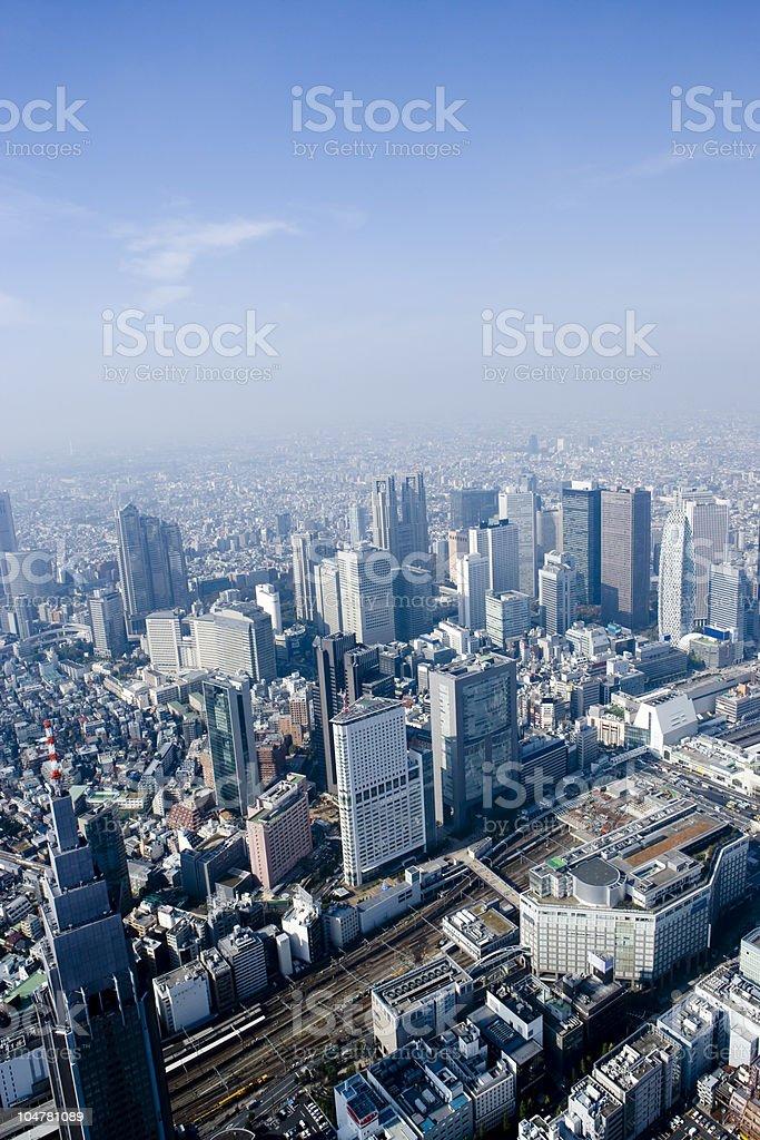Aerial View of Shinjuku, Tokyo royalty-free stock photo