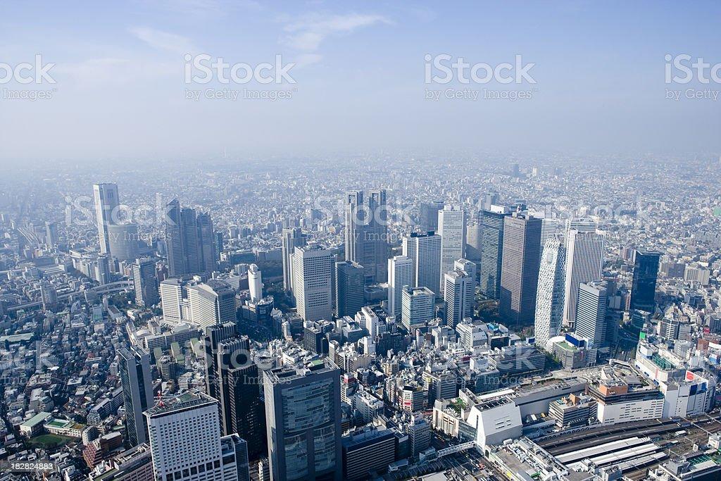 Aerial View of Shinjuku, Tokyo stock photo