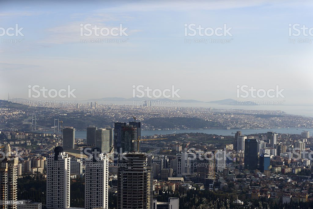 Aerial View of Skyscrapers royalty-free stock photo