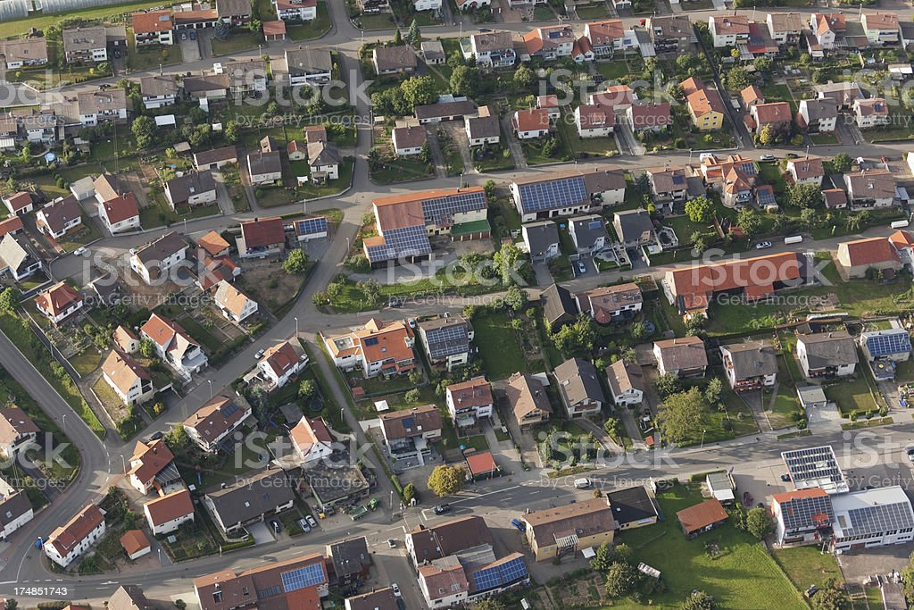 Aerial view of small village in Germany stock photo