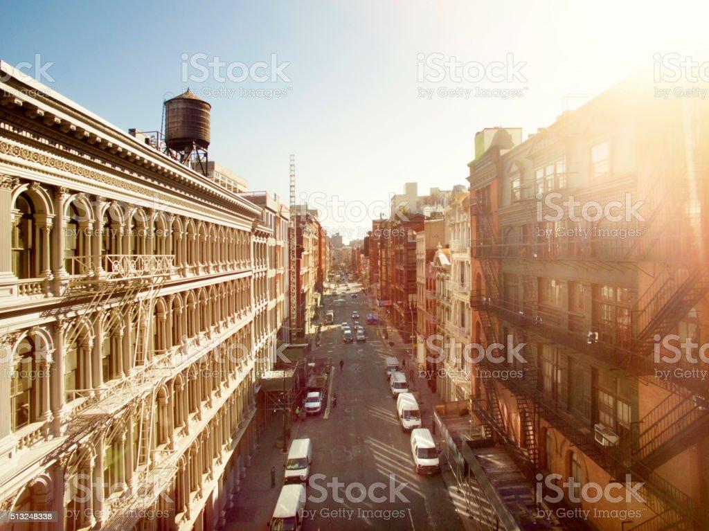 Aerial view of Soho stock photo