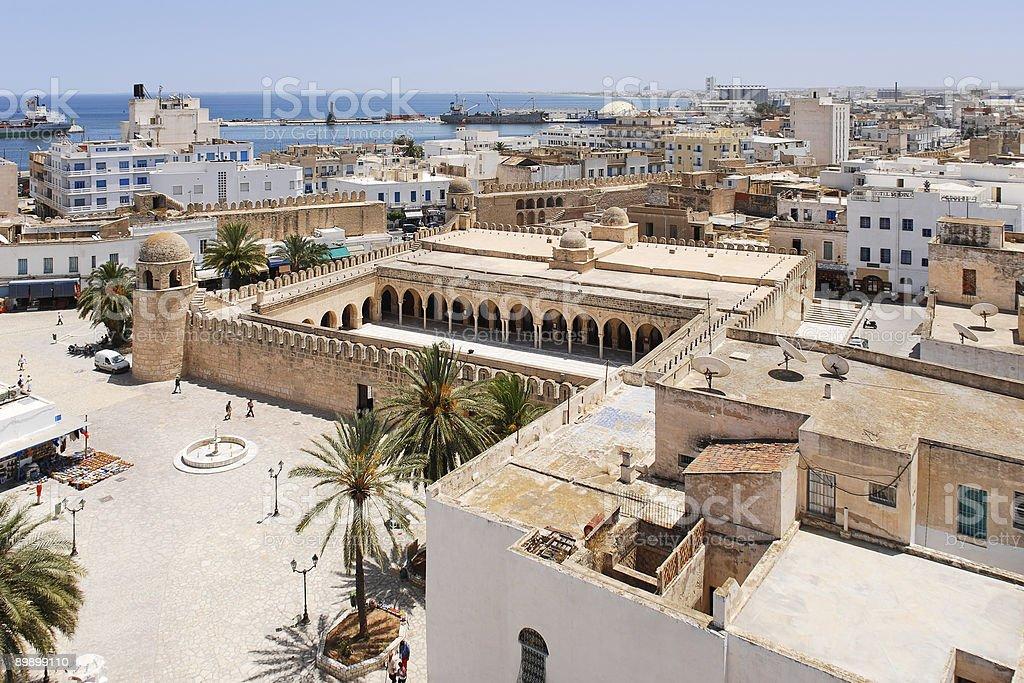 Aerial view of Sousse, Tunisia stock photo
