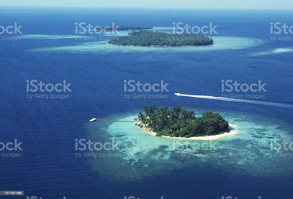 Aerial view of south islands royalty-free stock photo