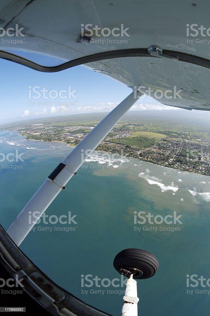 Vue aérienne du sud de Maui, avec avion ci photo libre de droits